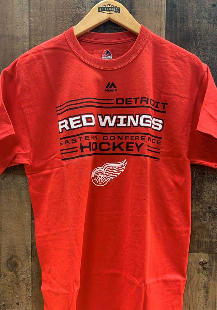 Majestic Detroit Red Wings Red Forecheck Short Sleeve T Shirt - Image 2