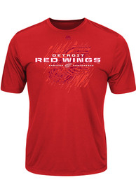 Majestic Detroit Red Wings Red OFF THE POST Tee