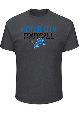 Detroit Lions Mens Grey Safety Blitz Tee