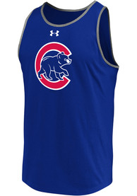 Chicago Cubs Under Armour Loyalty Team Mark Tank Top - Blue