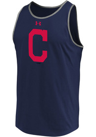Cleveland Indians Under Armour Loyalty Team Mark Tank Top - Navy Blue