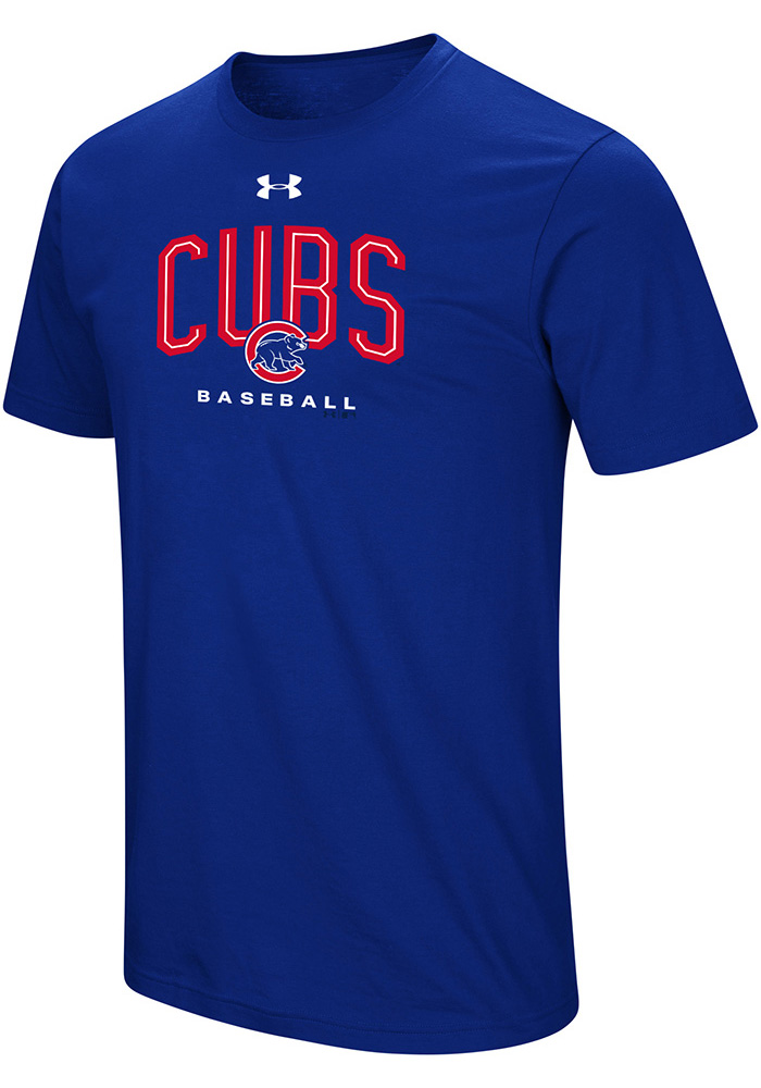 Under Armour Chicago Cubs Blue Performance Arch Short Sleeve T Shirt - Image 1
