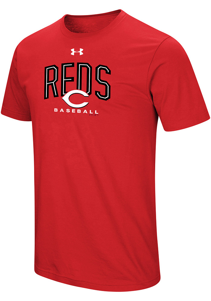 Under Armour Cincinnati Reds Red Performance Arch Short Sleeve T Shirt - Image 1