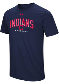 Under Armour Cleveland Indians Navy Blue Performance Arch Tee