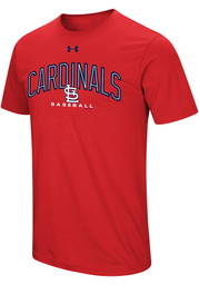 Under Armour St Louis Cardinals Red Performance Arch Tee