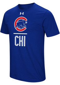Under Armour Chicago Cubs Blue Performance Slash Tee