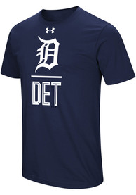 Under Armour Detroit Tigers Navy Blue Performance Slash Tee