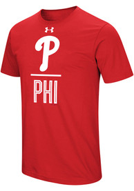 Under Armour Philadelphia Phillies Red Performance Slash Tee