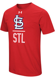 Under Armour St Louis Cardinals Red Performance Slash Tee