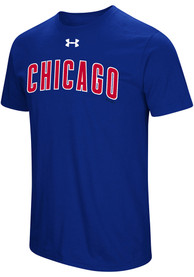 Under Armour Chicago Cubs Blue Passion Team Font Tee