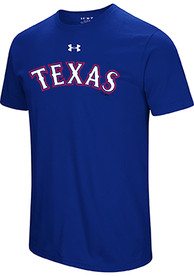 Under Armour Texas Rangers Blue Passion Team Font Tee