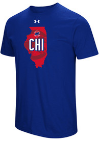 Under Armour Chicago Cubs Blue Passion State Tee