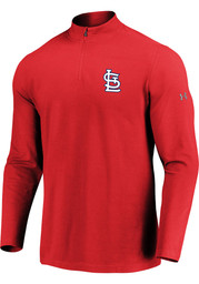 St Louis Cardinals Under Armour Passion Left Chest 1/4 Zip Pullover - Red