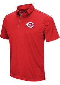 Majestic Cincinnati Reds Mens Red Tech Left Chest Short Sleeve Polo Shirt