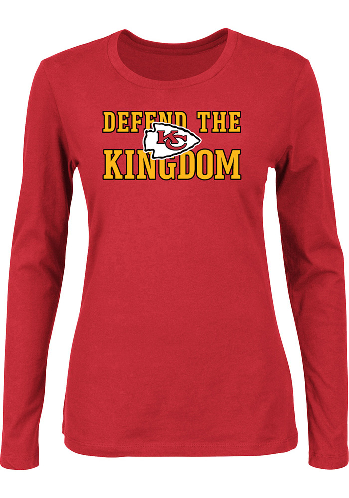 Kansas City Chiefs Womens Defend the Kingdom Red T-Shirt