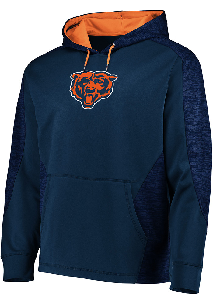Majestic Chicago Bears Mens Navy Blue Armour Hood - Image 1