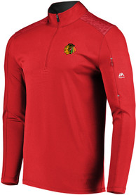 Chicago Blackhawks Majestic Ultra Streak 1/4 Zip Pullover - Red
