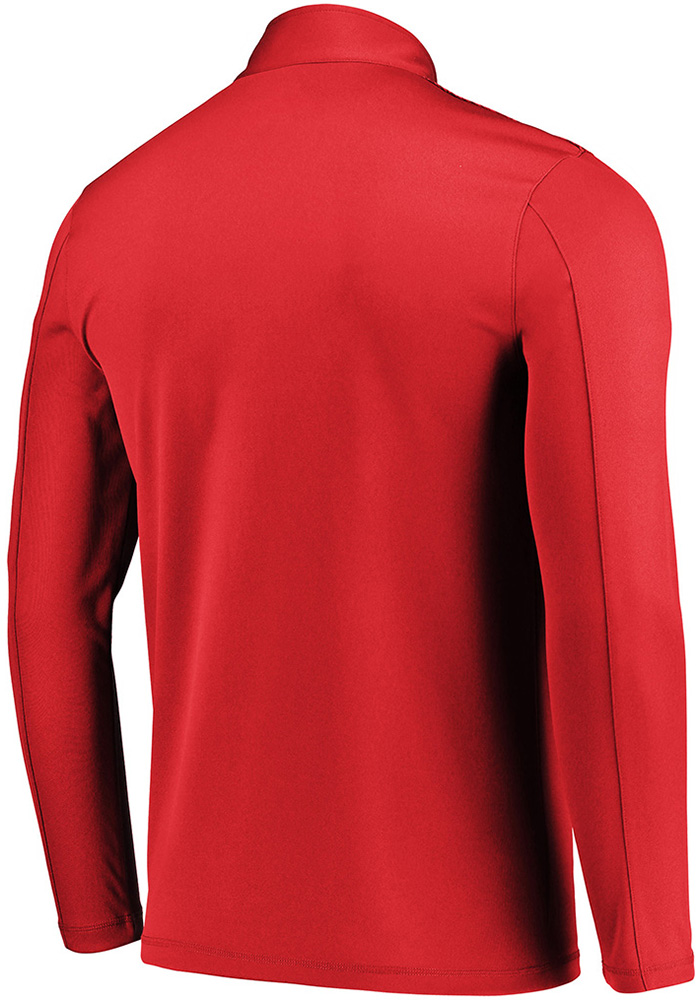 Majestic Chicago Blackhawks Mens Red Ultra Streak Long Sleeve 1/4 Zip Pullover - Image 2