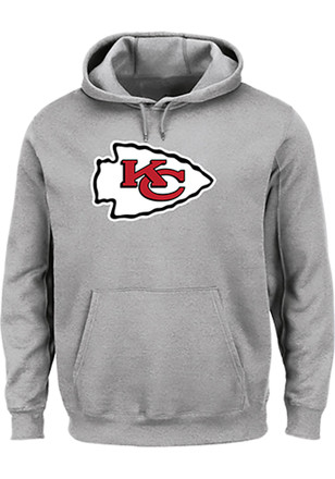 Majestic Kansas City Chiefs Grey Tech Patch Hoodie fc23ccb0d
