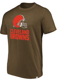 Majestic Cleveland Browns Brown Flex Logo Tee