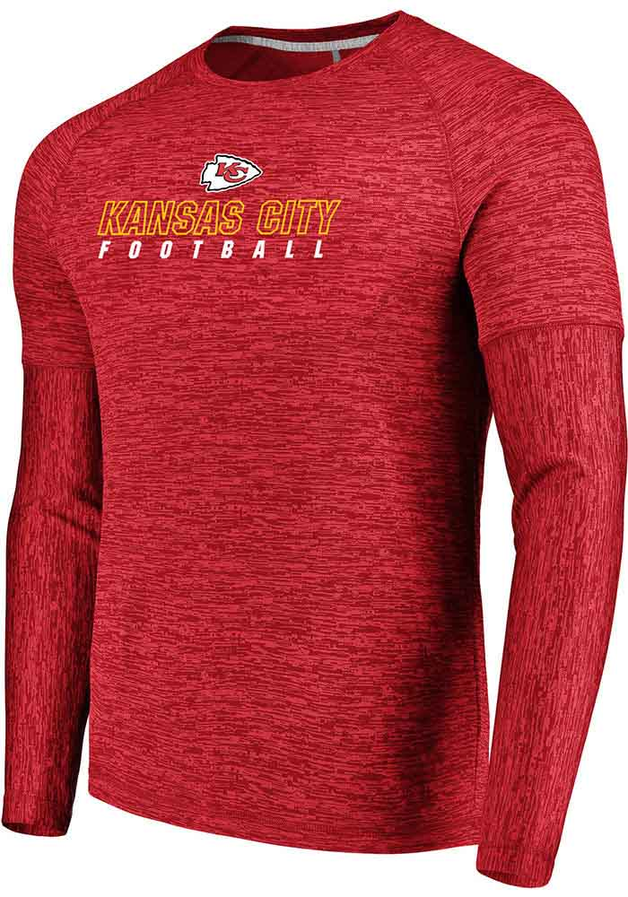 Majestic Kansas City Chiefs Red Ultra-Streak Long Sleeve T-Shirt - Image 1