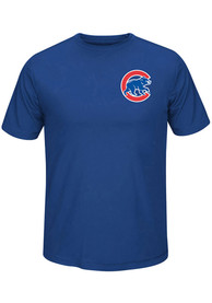 Majestic Chicago Cubs Blue Synthetic Wordmark Tee