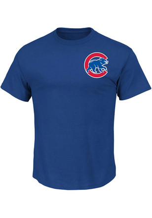 Majestic Chicago Cubs Mens Blue Wordmark Tee