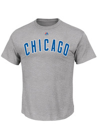 Majestic Chicago Cubs Grey Road Wordmark Tee