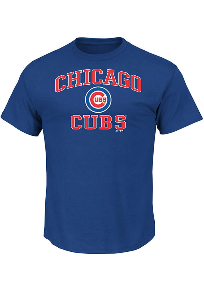 Majestic Chicago Cubs Blue Heart and Soul Short Sleeve T Shirt - Image 1