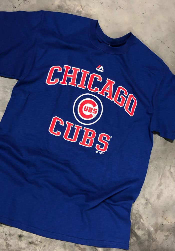 Majestic Chicago Cubs Blue Heart and Soul Short Sleeve T Shirt - Image 2