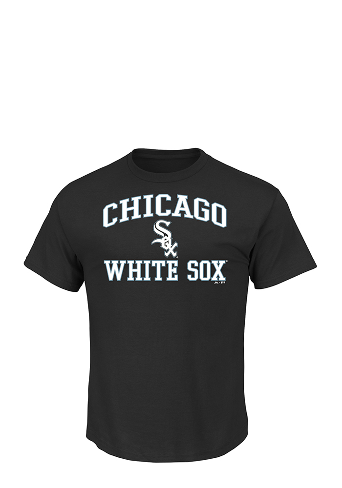 Majestic Chicago White Sox Black Heart and Soul Short Sleeve T Shirt - Image 1