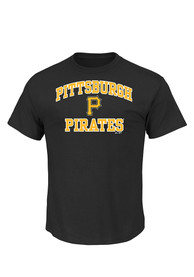 Majestic Pittsburgh Pirates Black Heart and Soul Tee