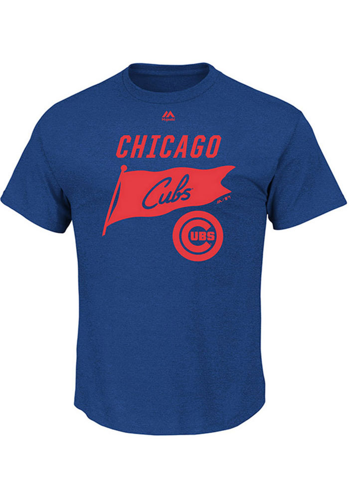 Majestic Chicago Cubs Mens Blue Again Next Year Short Sleeve T Shirt - Image 1