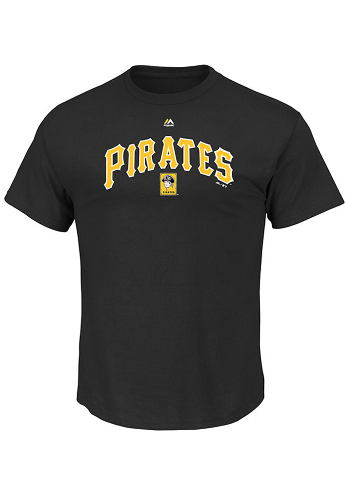 Majestic Pittsburgh Pirates Mens Black Series Sweep Cooperstown Short Sleeve T Shirt - Image 1