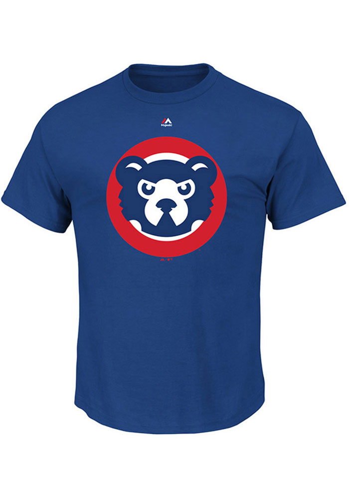 Majestic Chicago Cubs Blue Cooperstown Logo Tee
