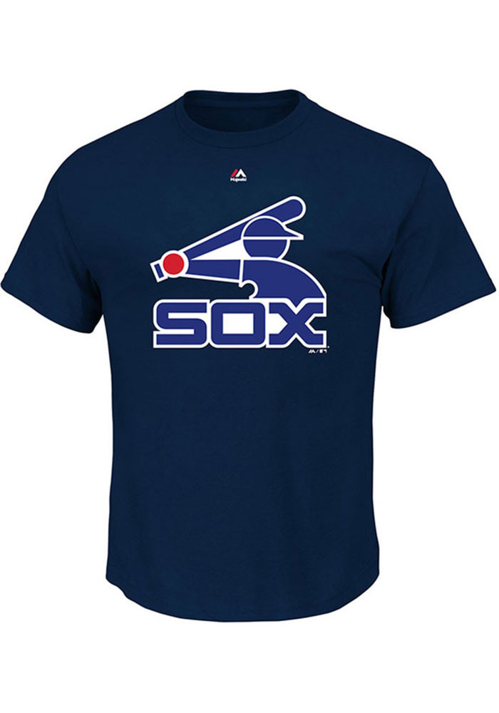 Majestic Chicago White Sox Mens Navy Blue Cooperstown Logo Short Sleeve T Shirt - Image 1