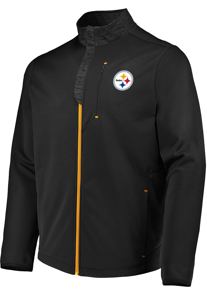 e5abda694 Majestic Pittsburgh Steelers Mens Black Team Tech Medium Weight Jacket -  Image 1