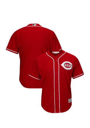 Cincinnati Reds Mens Majestic Replica Tackle Twill Jersey