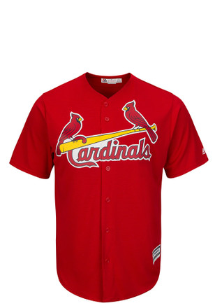 St Louis Cardinals Mens Majestic Replica Tackle Twill Jersey