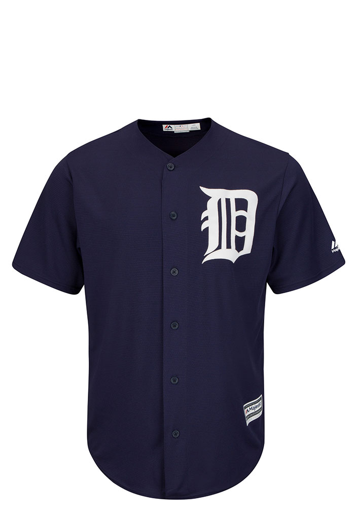Detroit Tigers Mens Majestic Replica Team Jersey - Navy Blue - Image 1