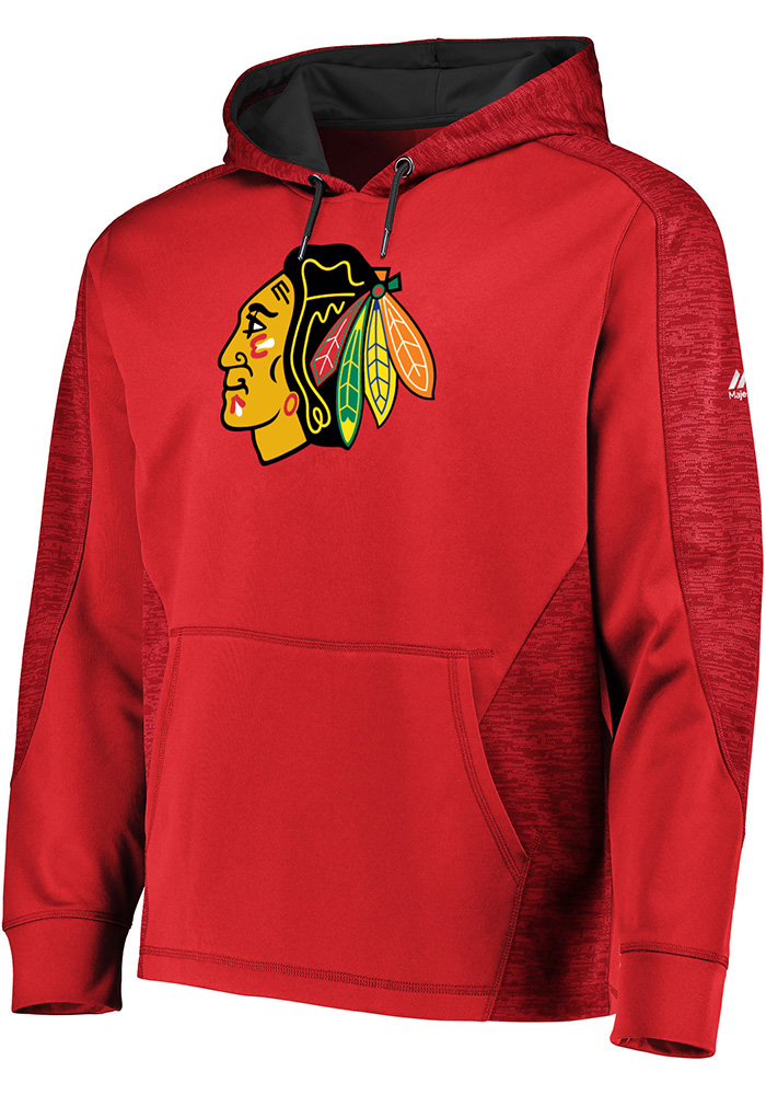 Majestic Chicago Blackhawks Mens Red Armor Hood - Image 1