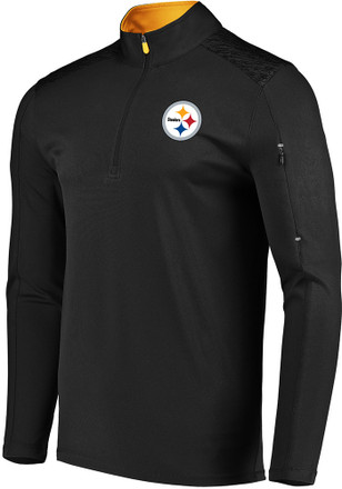 Majestic Pittsburgh Steelers Black Ultra-Streak 1 4 Zip Pullover 34a1ab316
