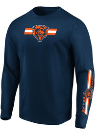 Chicago Bears Majestic Dual Threat T Shirt - Navy Blue