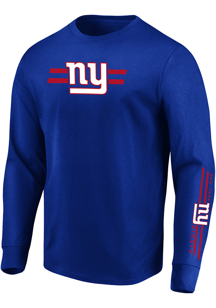 Majestic New York Giants Blue Dual Threat Long Sleeve T Shirt - Image 1