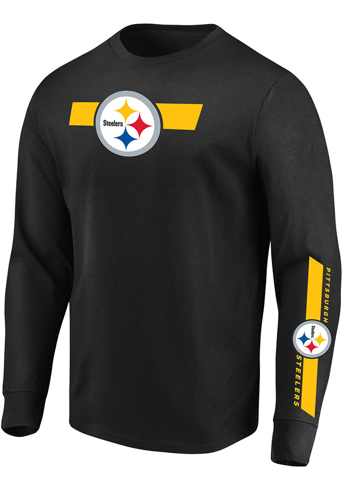 01bb184752b Majestic Pittsburgh Steelers Black Dual Threat Tee