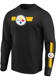 Pittsburgh Steelers Majestic Dual Threat T Shirt - Black