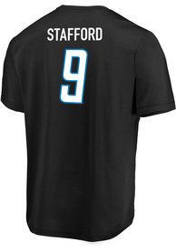 Matthew Stafford Detroit Lions Black League Leader Fashion Player Tee