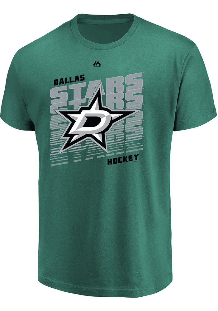 Dallas Stars Majestic Penalty Shot T Shirt - Green