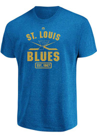 815eb7426be Majestic St Louis Blues Blue Forecheck Tee