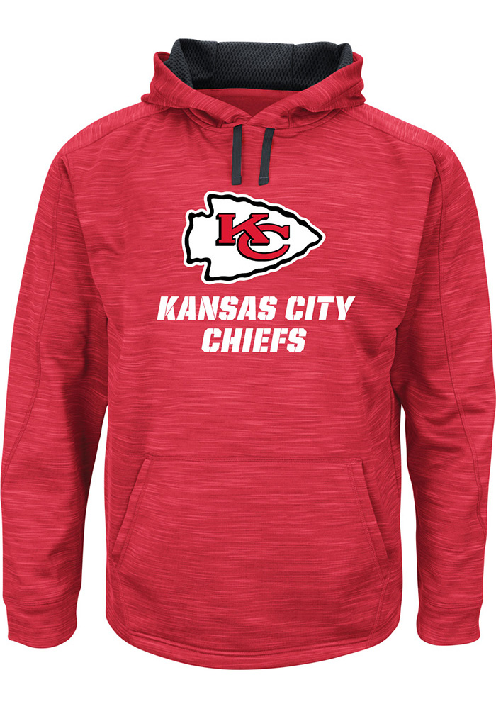 Majestic Kansas City Chiefs Mens Red Streak Logo Hood, Red, 100% POLYESTER, Size M